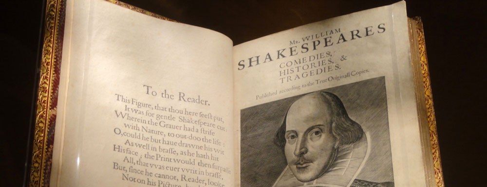 FAQ Title Image: credit: First Folio in the Folger Shakespeare Library, Washington, DC, USA. CC0 via Wikimedia Commons.